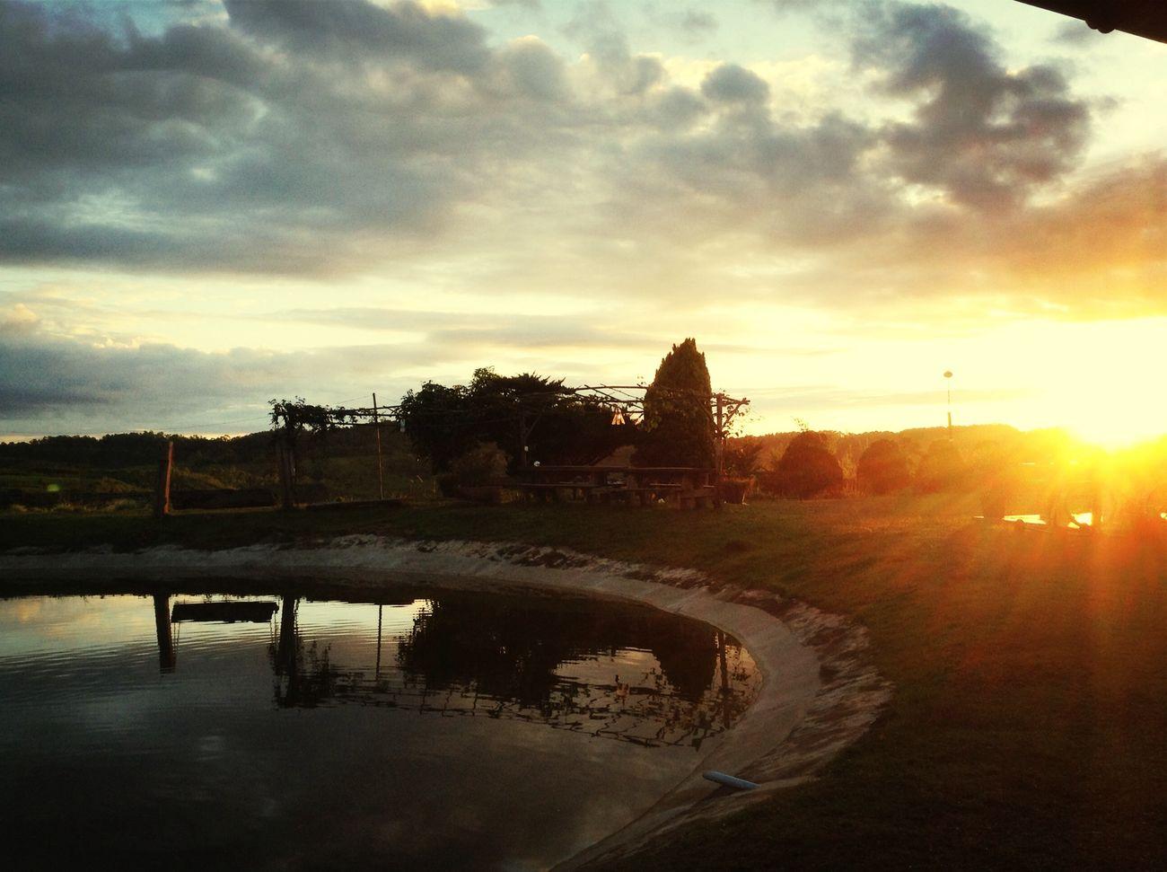 ยามเช้า พระอาทิตย์ กำลังขึ้นจากขอบฟ้า ที่ KM FLOWER