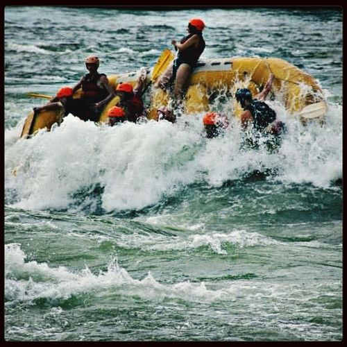 Swallowed By The Rapids what an Amazing Experiance White Water Rafting on the River Nile