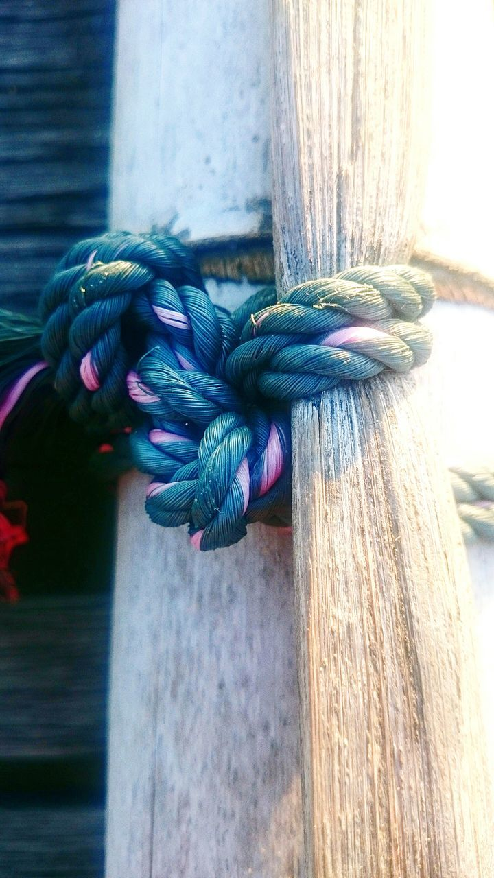 tied knot, no people, day, close-up, outdoors