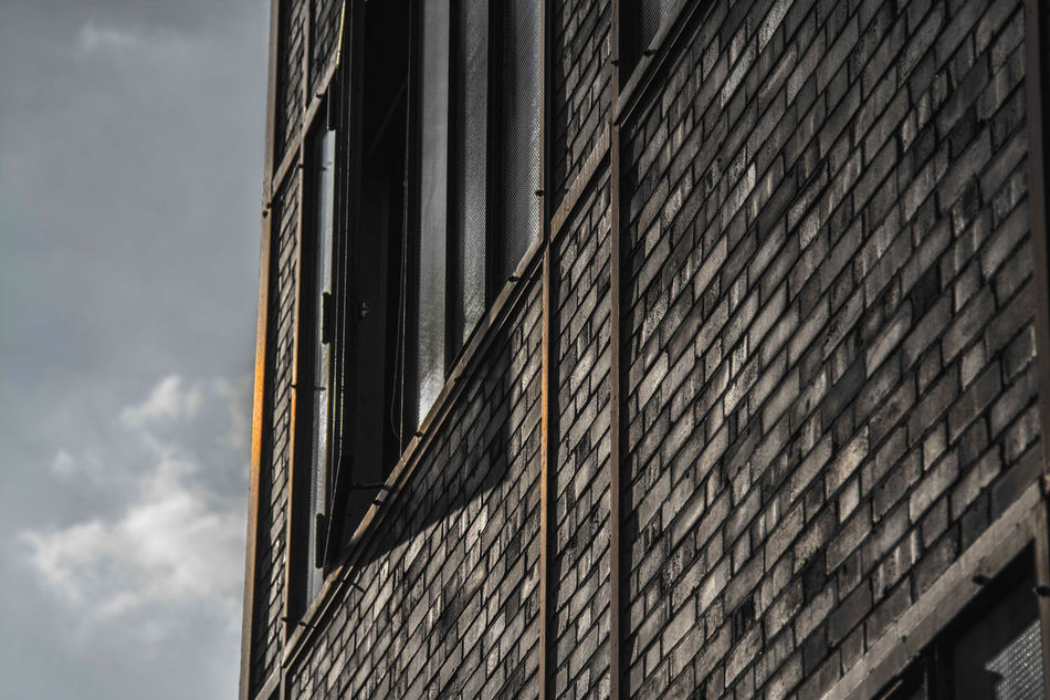 Architecture Architecture Architecture_collection Brick Brick Building Brick Wall Building Exterior Built Structure City Close-up Day Desaturated Industrial Industry Low Angle View No People Outdoors Sky Structure The Secret Spaces