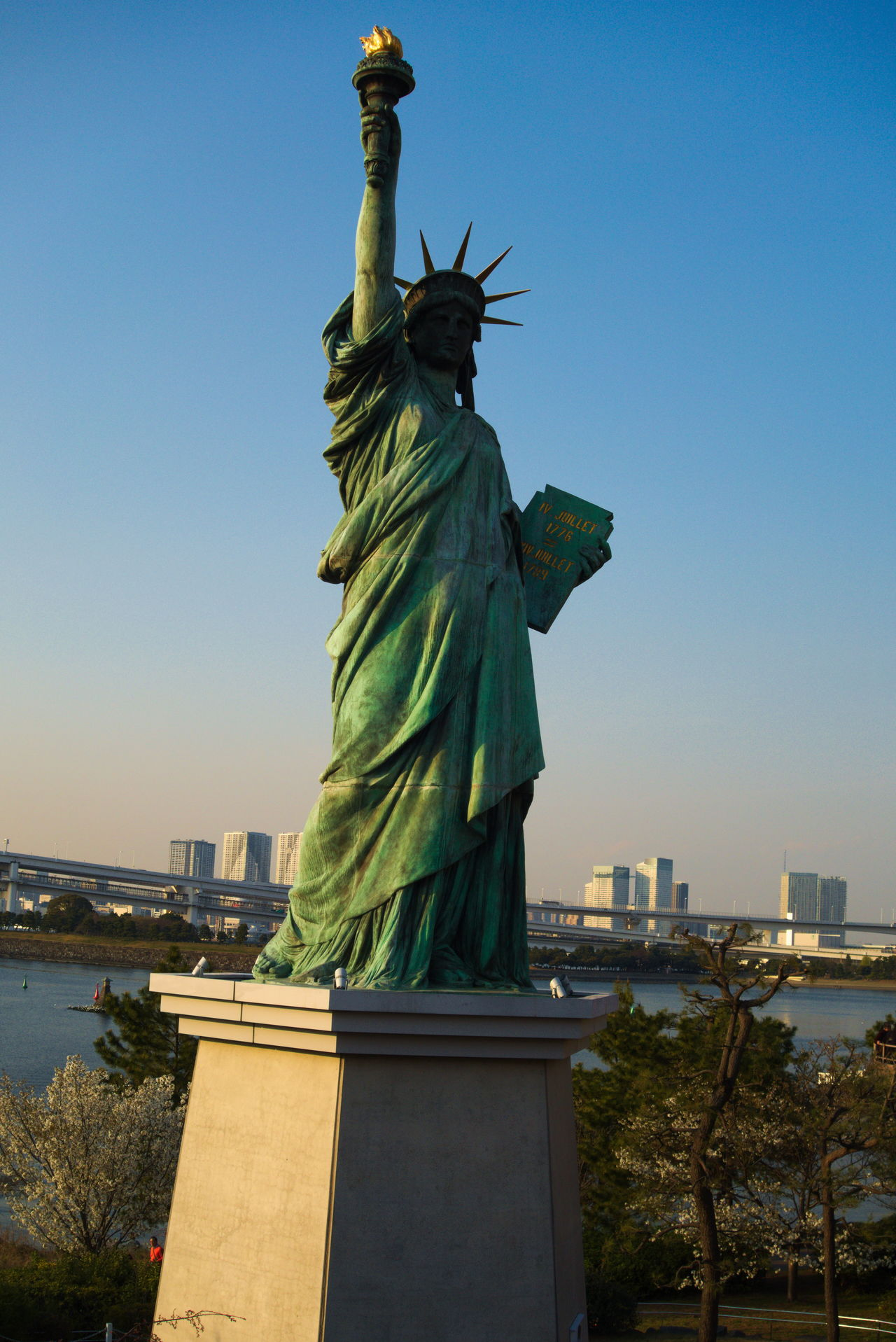 Statue of Liberty , Odaiba Tokyo, Japan Architecture Art And Craft Beautiful Woman Building Exterior Built Structure City Clear Sky Crown Day Female Likeness Freedom Human Representation Japan Photography Japanese Culture No People Outdoors Sculpture Sky Statue Statue Of Liberty Toga Torch Torchlight Travel Destinations Water_collection