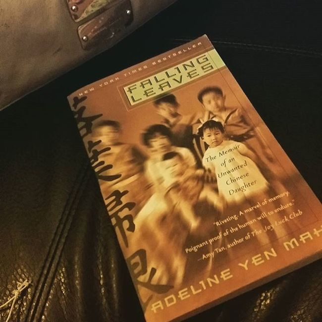 Re-reading a favorite book of mine growing up. 📚📖 Highschooldays Fallingleaves ChineseCinderella Adelineyenmah