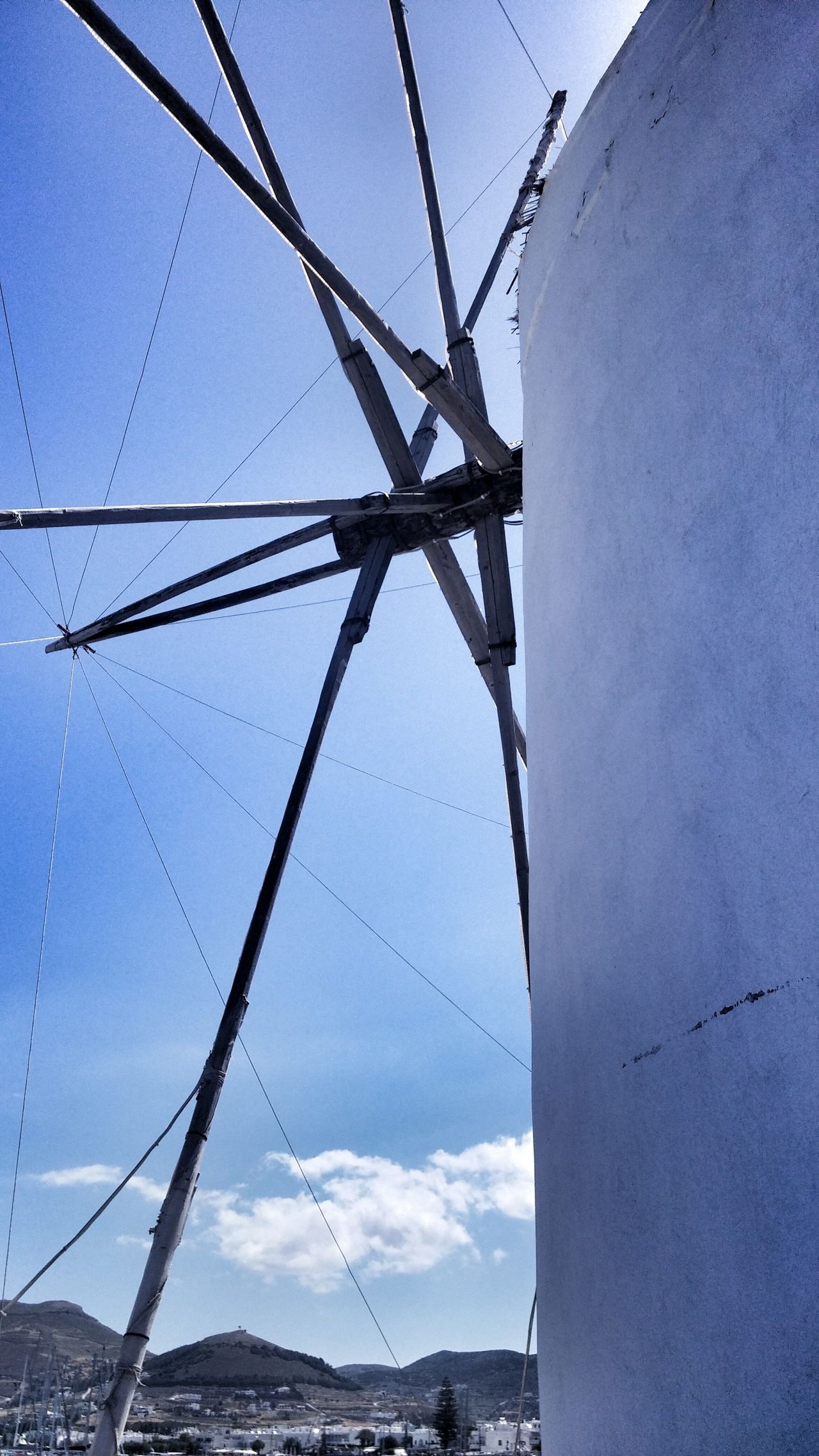 Cloud - Sky Greece Greek Windmill Windmill Windmills Windmill In Paros