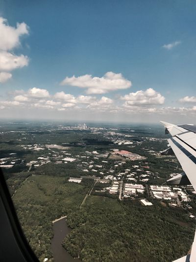 EyeEmNewHere Aerial View Sky City Transportation Journey Travel Scenics Cloud - Sky Airplane