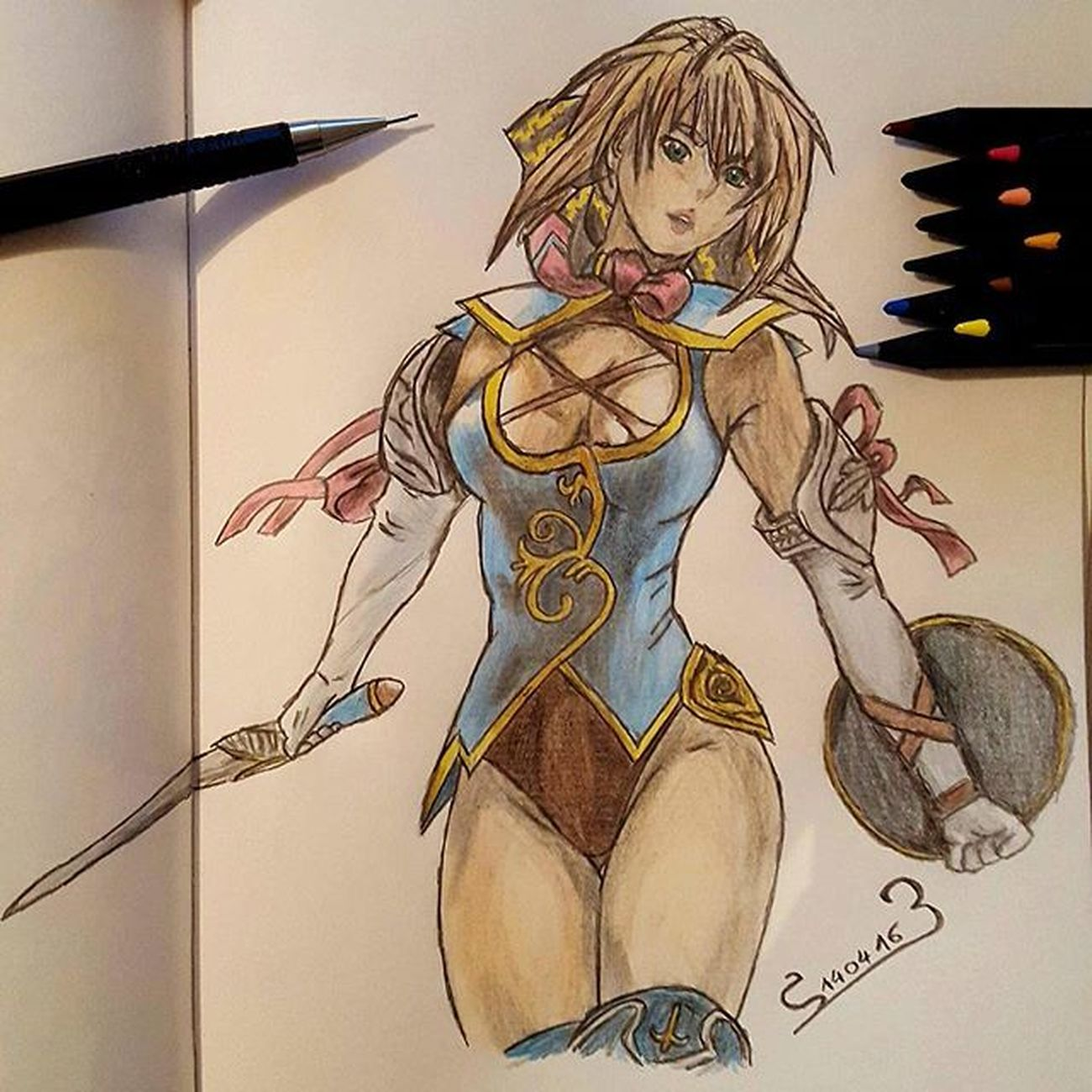 Color Fanart Pencildrawing Pencilart Pencils Criterium Soulcalibur Cassandra Sword