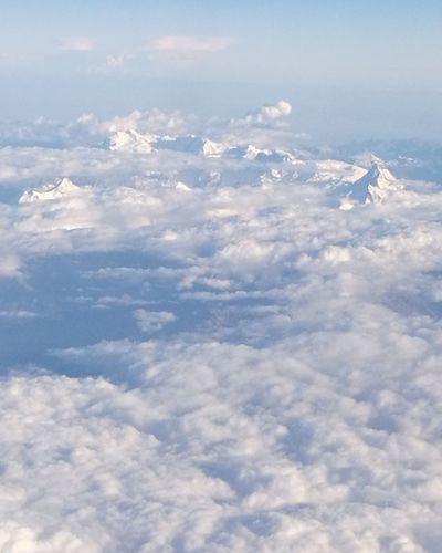 Cloudscape Beauty In Nature Cloud - Sky Nature Cloud über Den Wolken Französische Alpen Berggipfel Berge Flug Wolken Wolkenhimmel