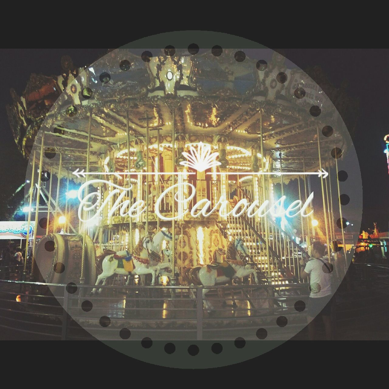 illuminated, no people, night, close-up, indoors, gold colored, arts culture and entertainment, amusement park ride, christmas decoration, carousel