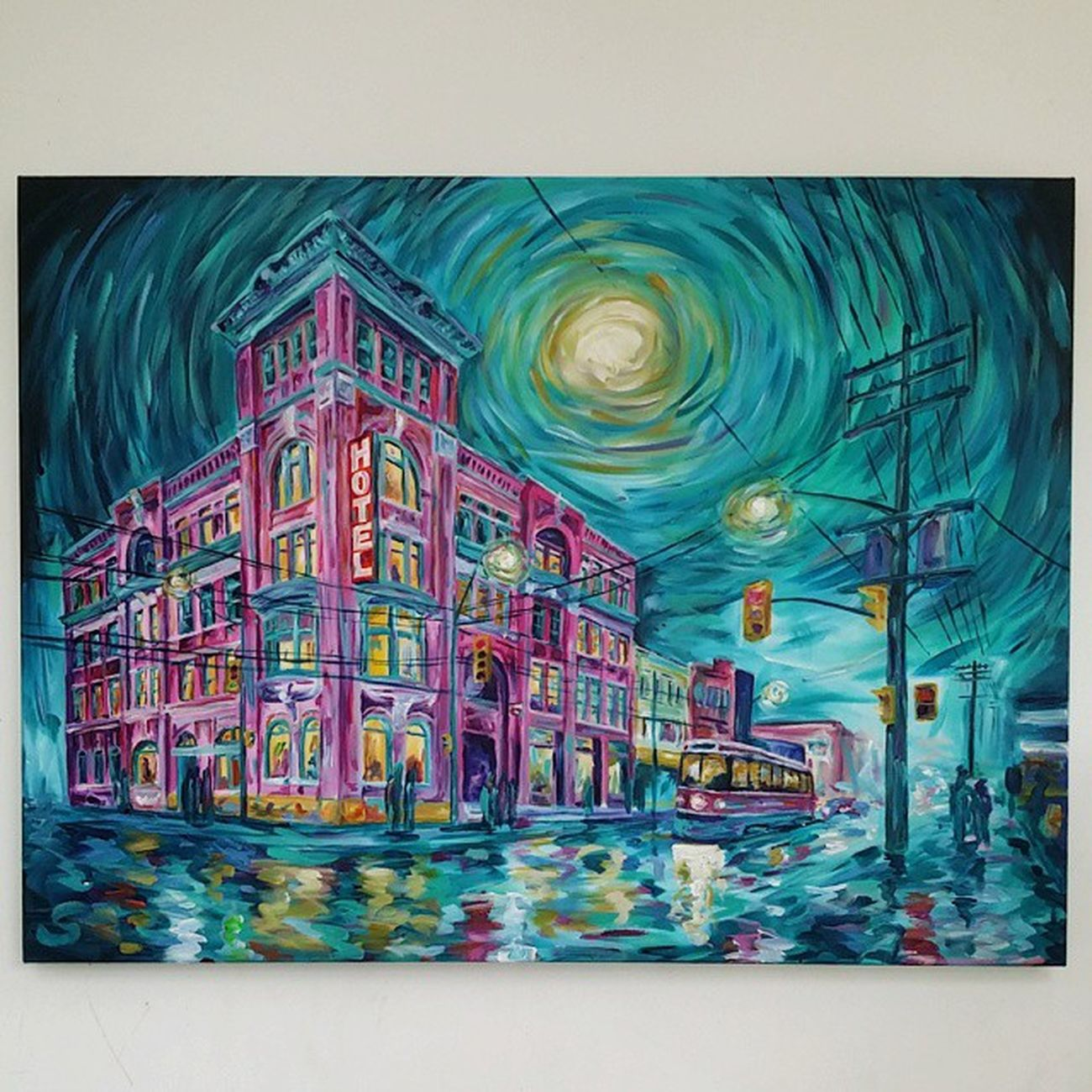 "Newest piece. Gladstone - 30""x40"" acrylic on stretched canvas. Caseyoneillart Gladstone Toronto"