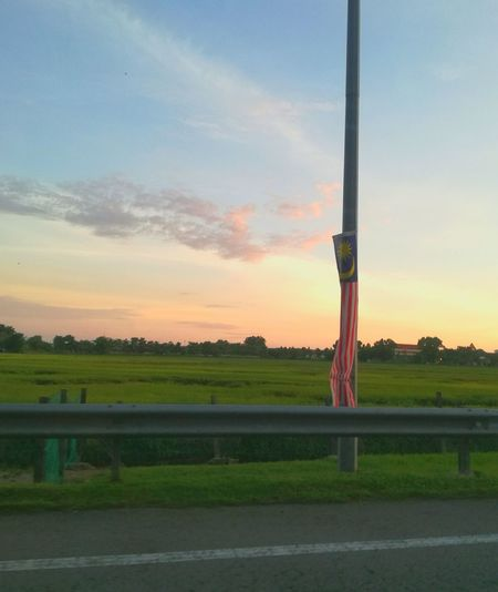 Nature Sunset Tranquil Scene PoleSunset Scenics Malaysiasky Non-urban Scene Tranquil Scene Pole Scenics Tranquility Sky Cloud Countryside Beauty In Nature Green Color Remote Alorsetar