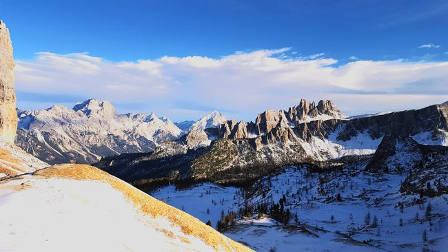 Sunnyday☀️ Mountains Snow ❄ Cortina D'Ampezzo 2295mt Cinquetorri