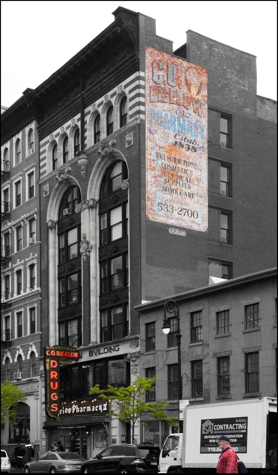 Greenwich Village Landmark - C.O. Bigelow _ Estab. 1838 - 5/3/16 As I Sees It Building Exterior City Life Creative Selections & Adjustments W/ Ps CC2016 EyeEm StreetPhotography, NYC Pre WW2 Building