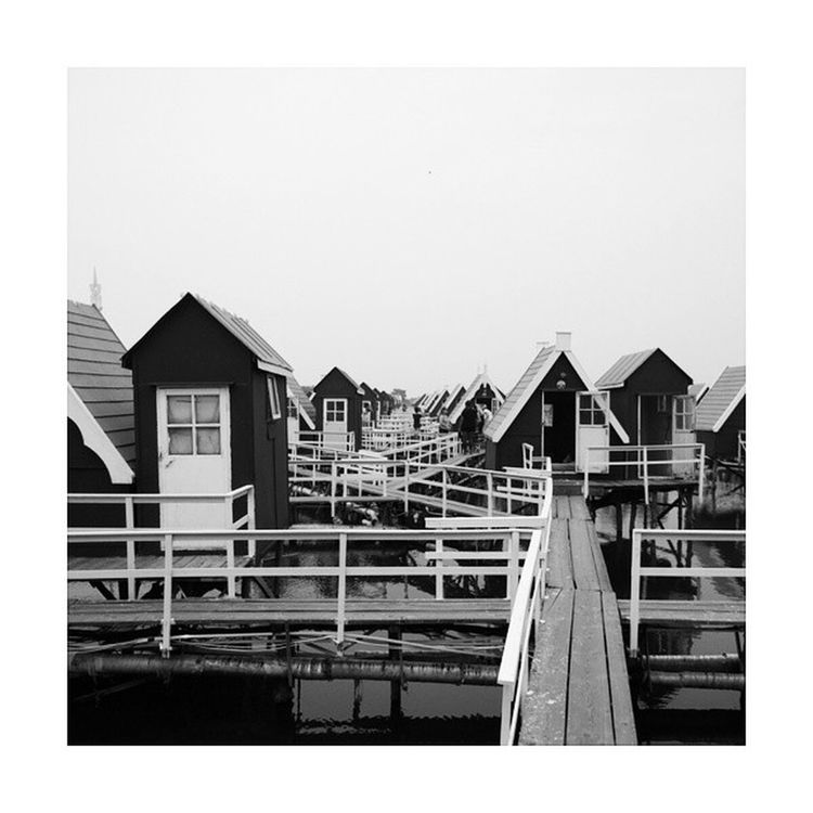 """Dutch"" style cabins, according to the Chinese. China Holidays TANGSHAN Dutch nederland interesting weird blackandwhite cool"