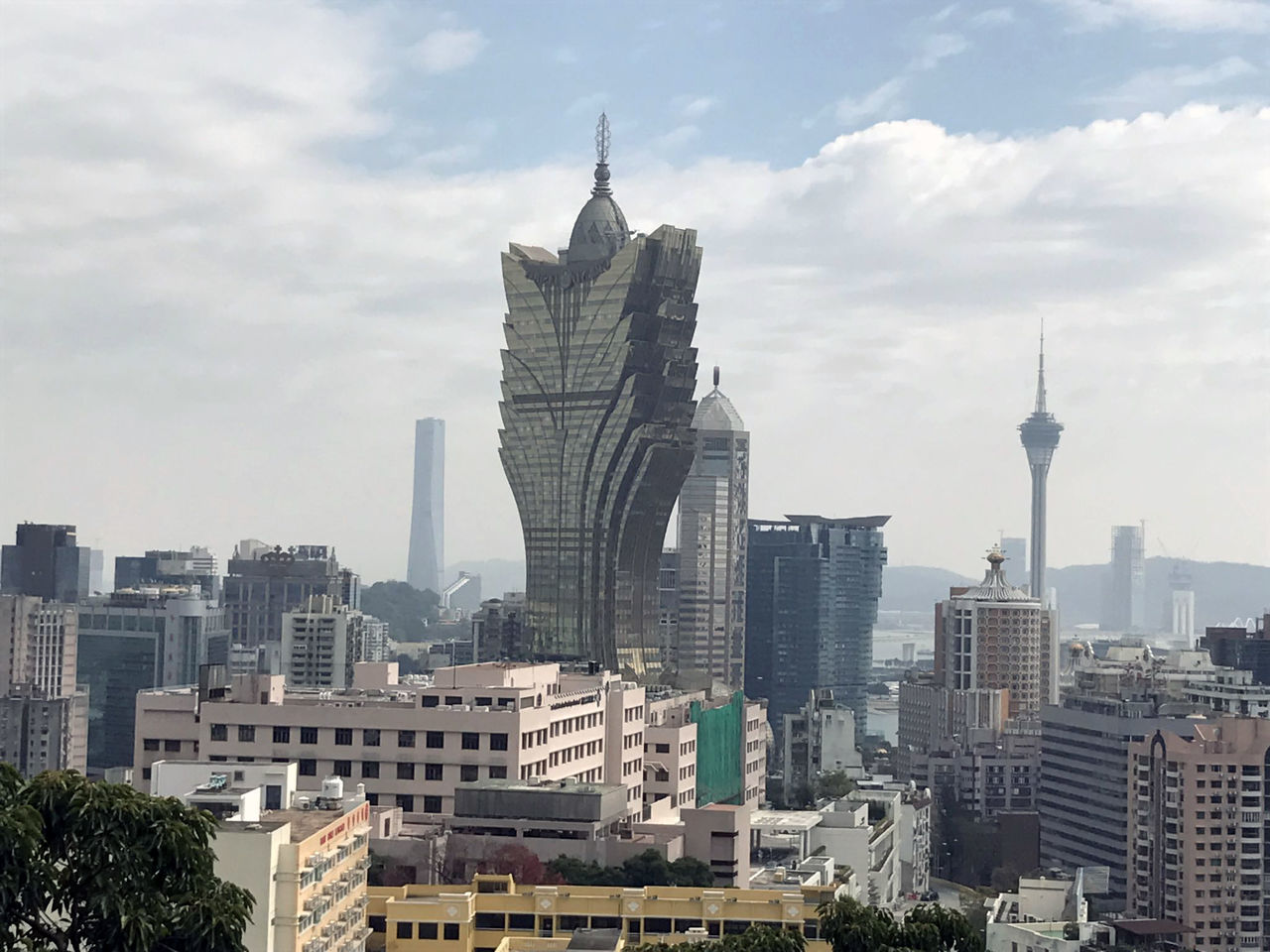 Taken in 02-05-2017 Architecture Building Exterior Built Structure City Cityscape Cloud - Sky Day Macau Modern Neighborhood Map No People Outdoors Sky Skyscraper Tall Tall - High Tower Travel Destinations Tree Urban Skyline