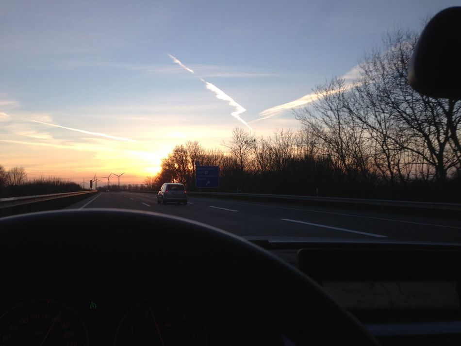 Sky Sunset Driving Germany