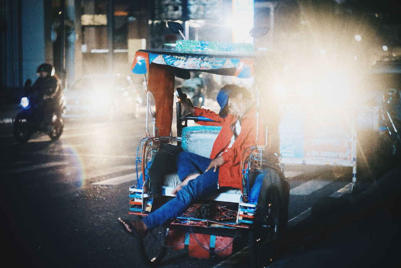 A short break for today.. // One Person Real People Arts Culture And Entertainment Land Vehicle Transportation Fun Sitting People Lifestyles Outdoors Day Adults Only Close-up Adult One Man Only Only Men Humaninterest City EyeEmNewHere The Street Photographer - 2017 EyeEm Awards