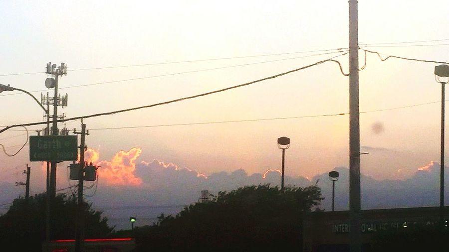 Sunset , Storm brewing
