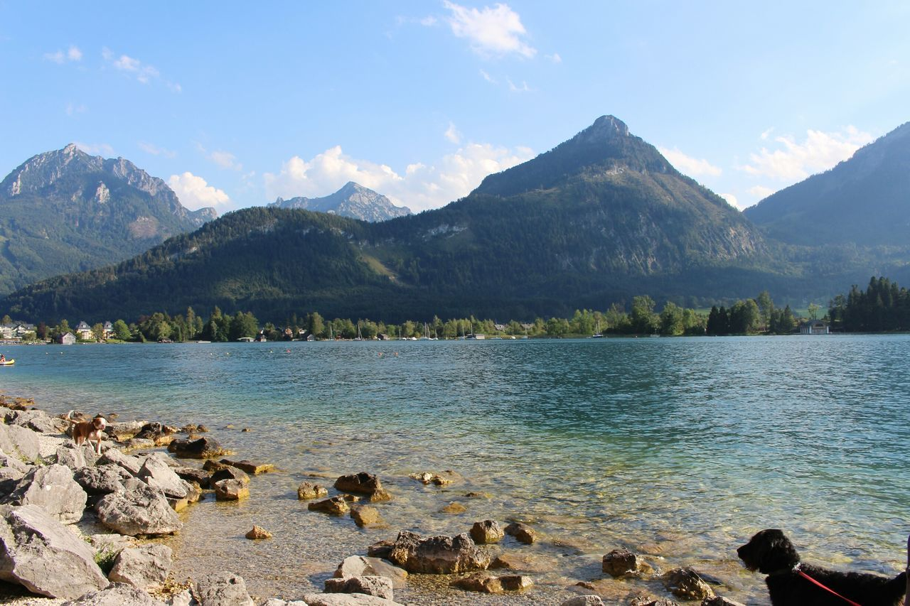 Calm Lake With Mountains In Background
