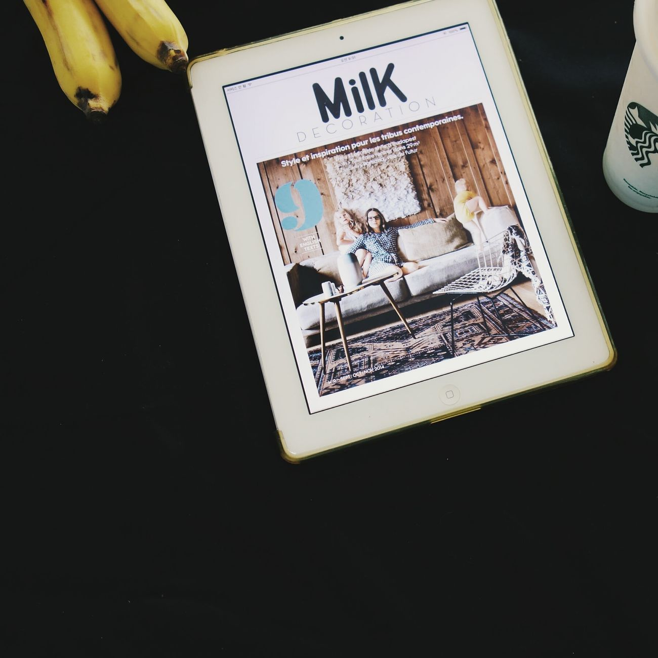 Three things this morning. Milkdecoration Ipad Coffee Digitalmagazine
