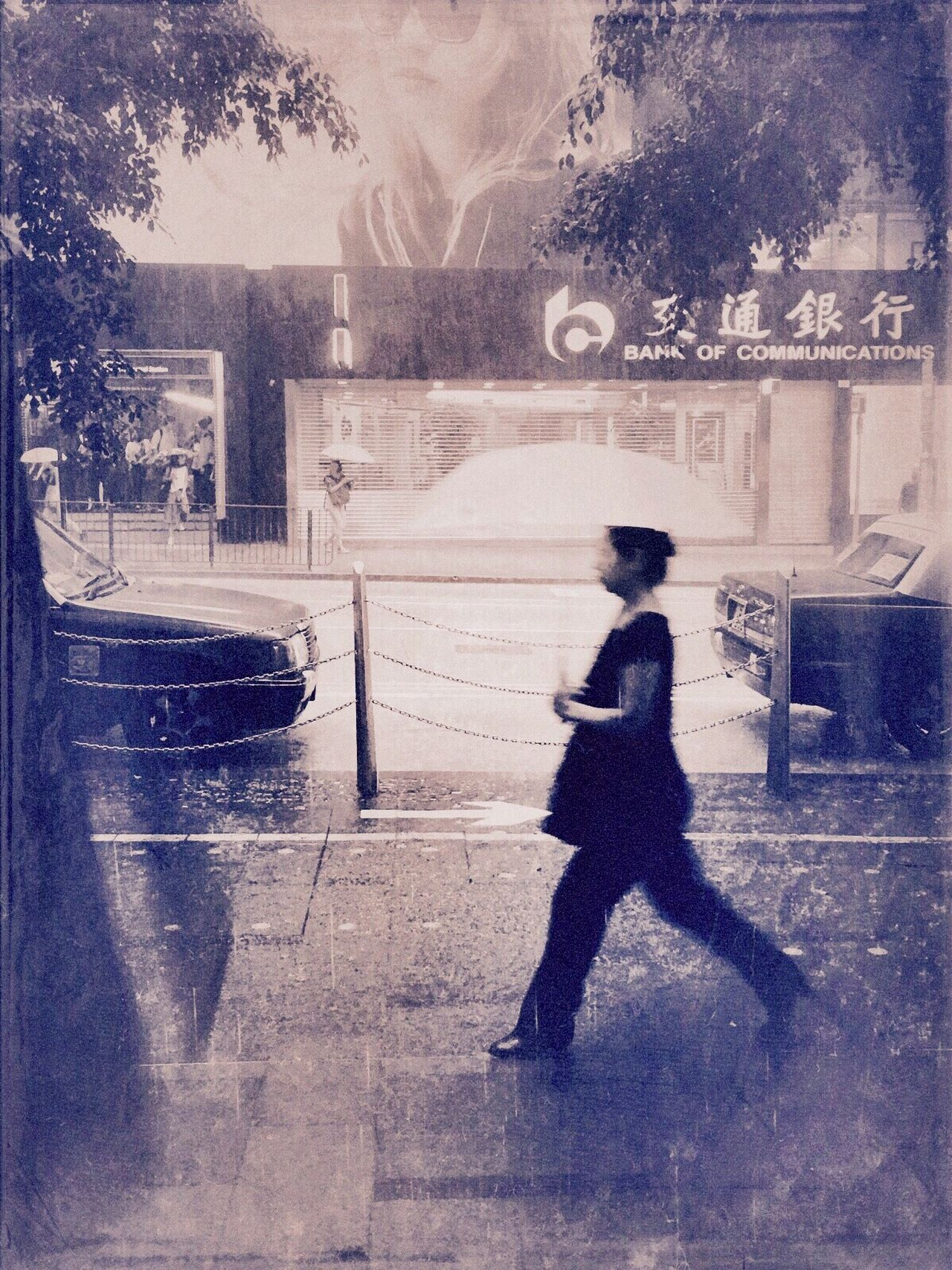IPhoneography Light And Dark Rainy Days Lady With Umbrella Tranquil Scene
