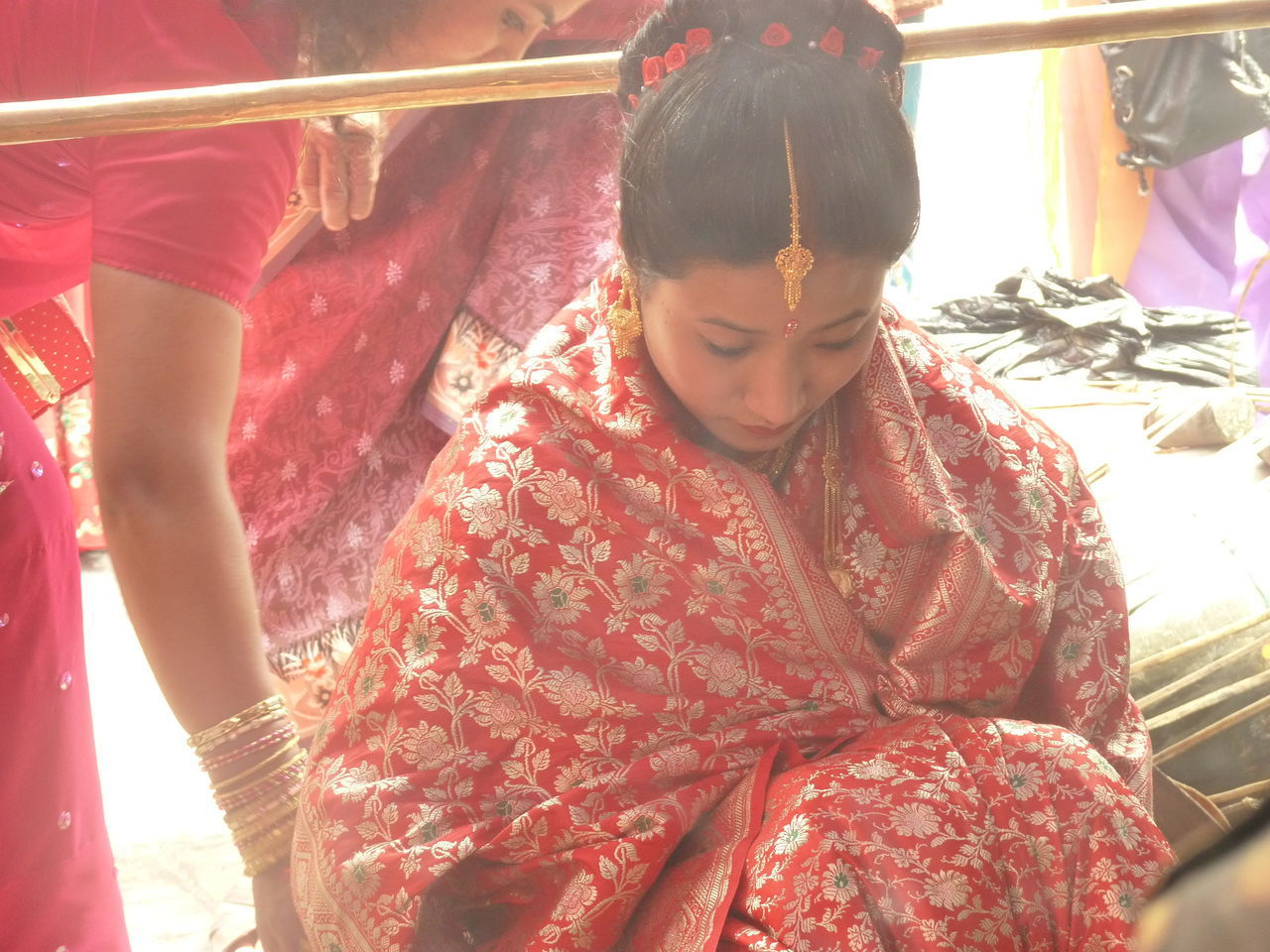 Colorful Wedding Discovering New Cultures EyeEm Diversity Moments Of A Travel To Remember Rare Moment Real People Religion And Tradition Sari Travelling Around The World Wedding Ceremony Wedding Dress Young Women The Portraitist - 2017 EyeEm Awards