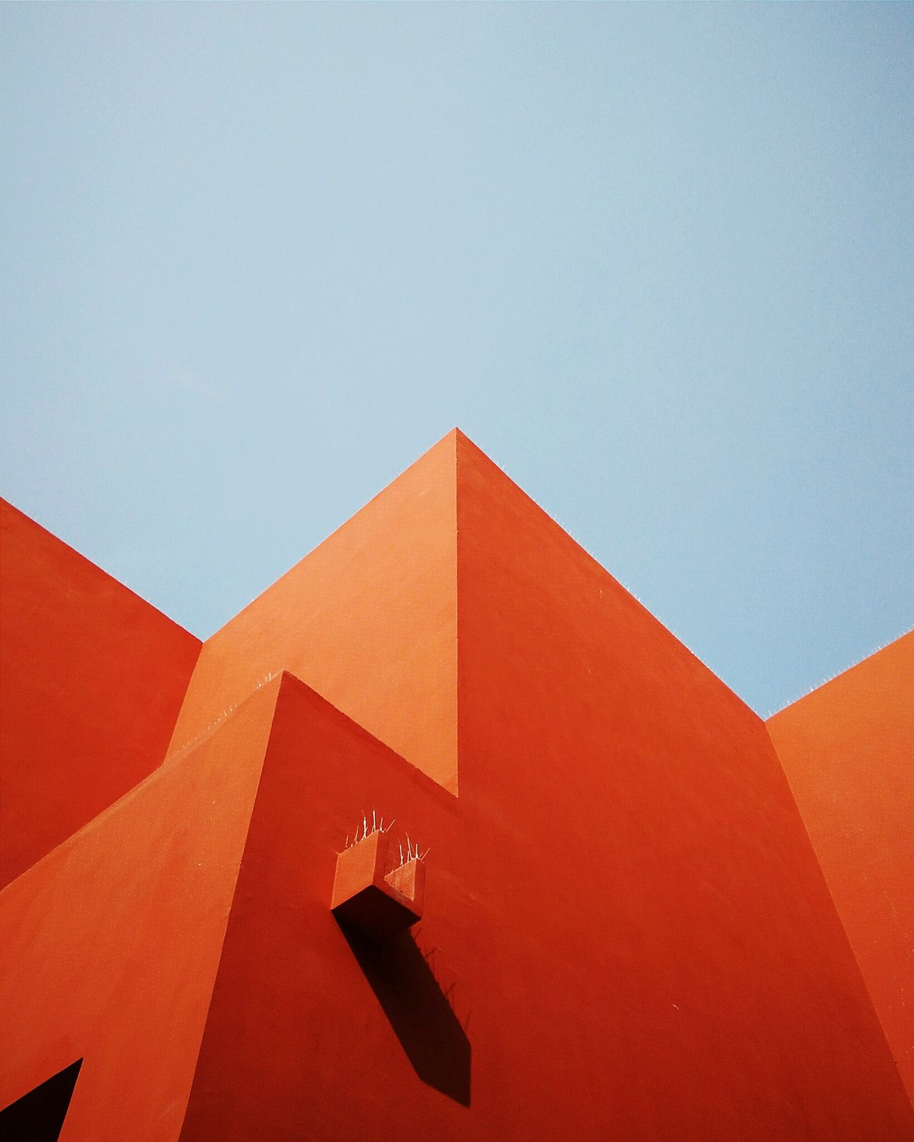 TakeoverContrast Geometric Shape Architecture Blue Orange Modern No People Multi Colored Outdoors Minimalism Minimal Light And Shadow Abstract Minimalist Architecture Art Is Everywhere Break The Mold