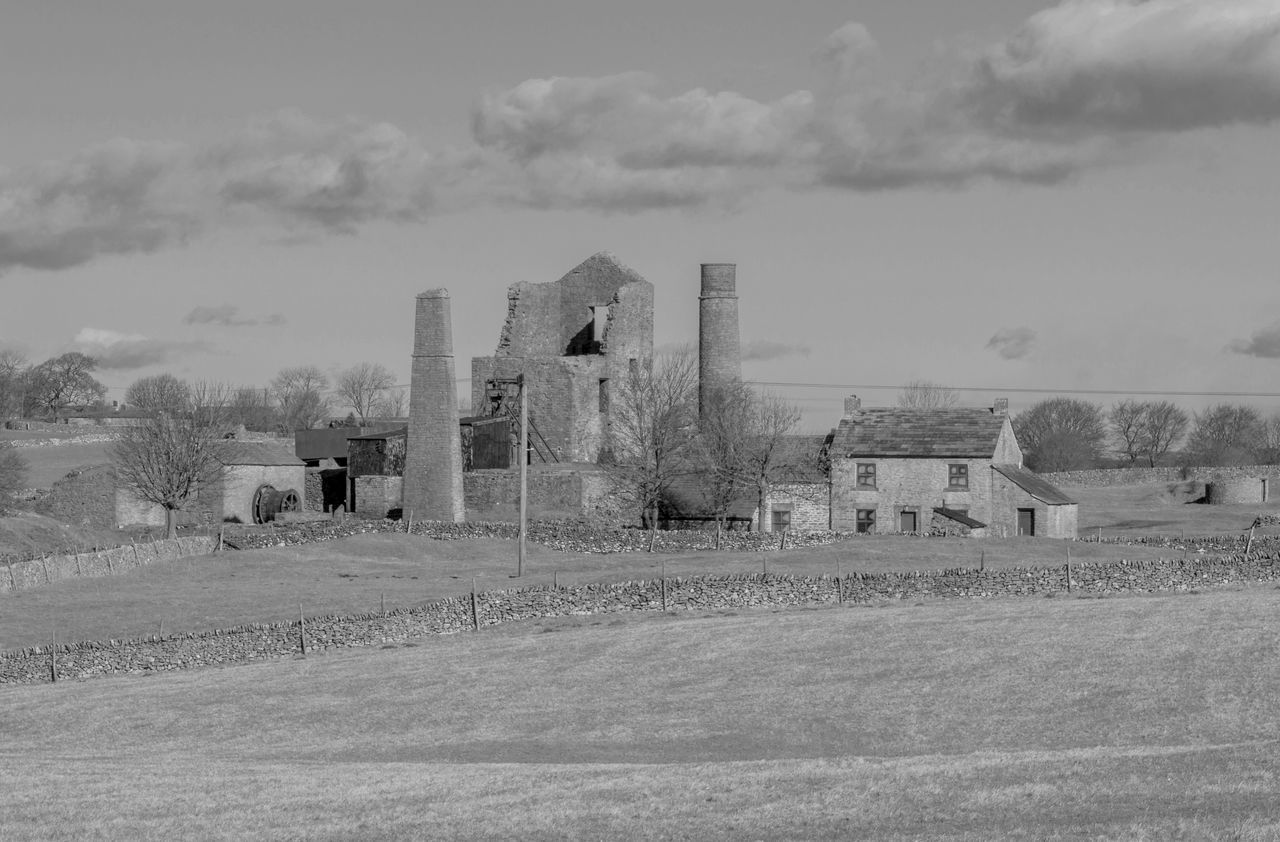 Magpie Mine in the Debyshire Dales in black and white. Built Structure Cloud - Sky Derbyshire Dales Exterior History History Through The Lens  Landscape Landscape_Collection Landscape_photography Mining Heritage Mining Industry No People Outdoors The Past United Kingdom Working Life
