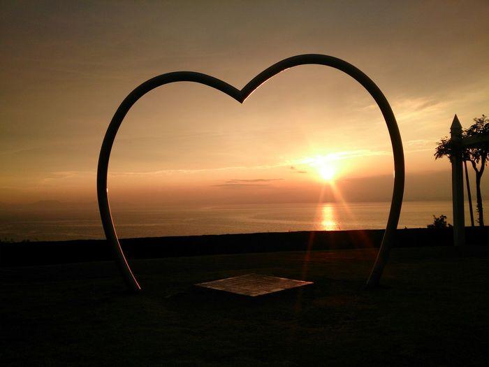 夕日 ハートゲート 海 Heart Gate Love Lovely Place Lovely Sea Sea And Sky