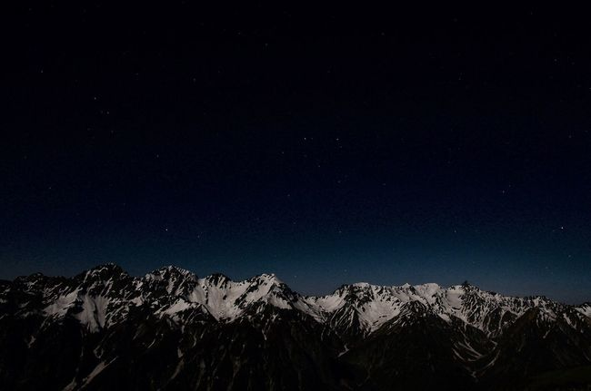 Night Snow Star - Space Scenics Beauty In Nature Nature Astronomy Mountain Sky Outdoors Landscape Japan Alps Trekking 北アルプス 大キレット Hotaka Yari Japan Nightphotography