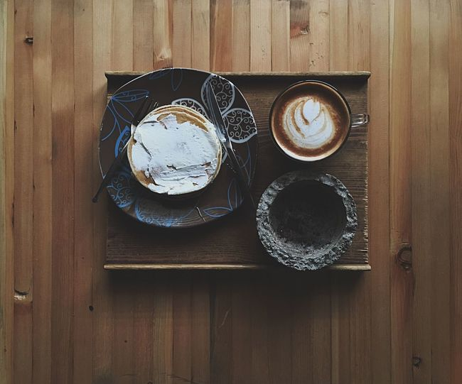Latte Cafe Coffee Pancakes