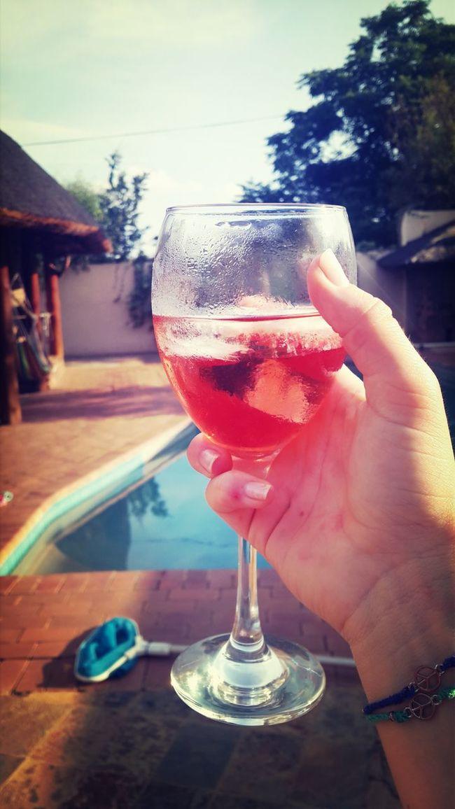 Taking Photos Rosé Wine Braaitime