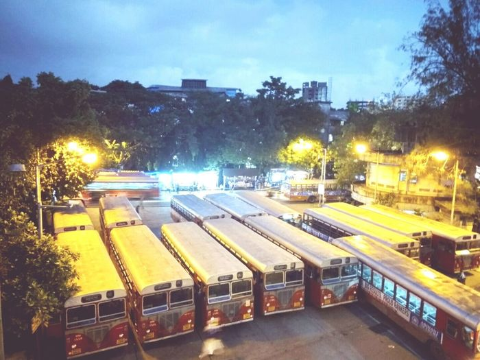 The Color Of School Street Light Transportation Illuminated Night High Angle View City Life