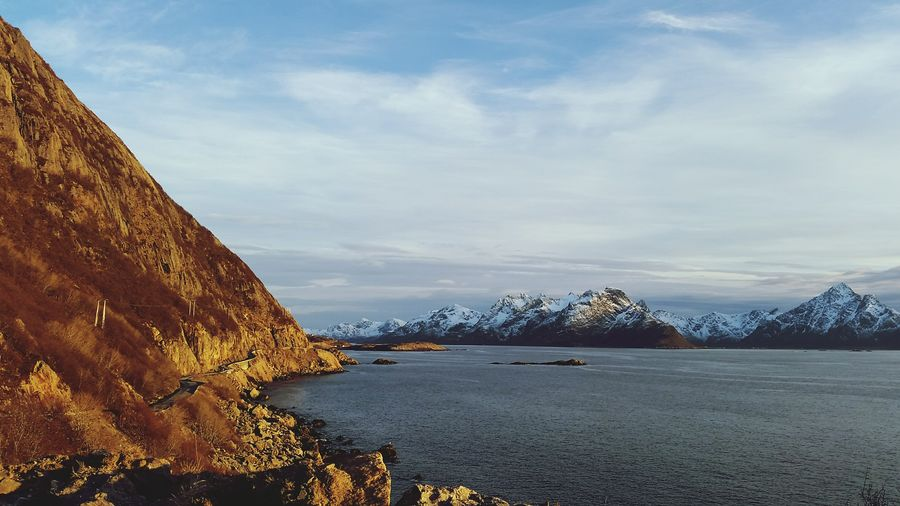Nyksund Roadside Beautiful Nature Blue Ocean Mountains Nature Photography North Of Norway