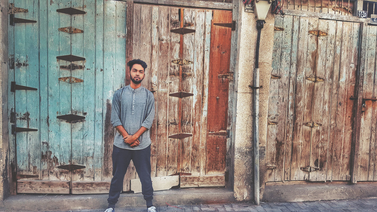 Casual Clothing Beard Dubai Bahrain DXB Manama Wooden Texture Tights Gym Hot Summer Lean Slim Standing Posing Followme