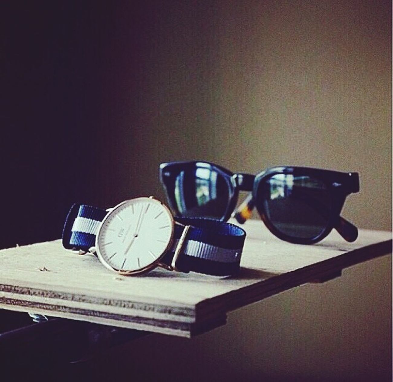 Sunglasses and watch