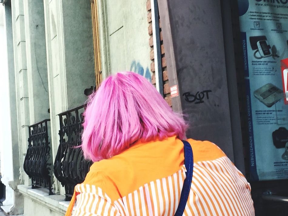 People in the street✨💛🌸 Person Long Hair Blond Hair Blonde Hair Pink Color Human Hair Hairstyle Focus On Foreground Day Rosado Pelo Cabello Style Estilo Young Adult Straight Hair