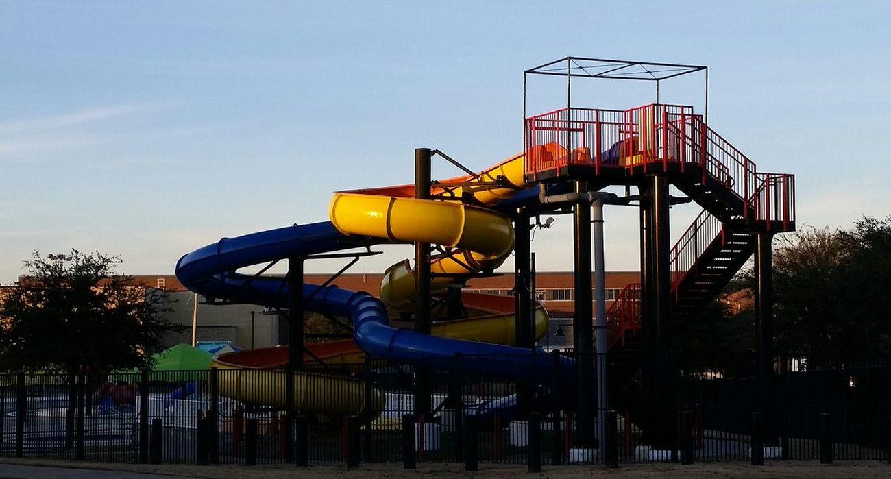 Lewisville, Texas No People Outdoors Pool Slide Pool Slides Slide - Play Equipment Water Park Water Slide