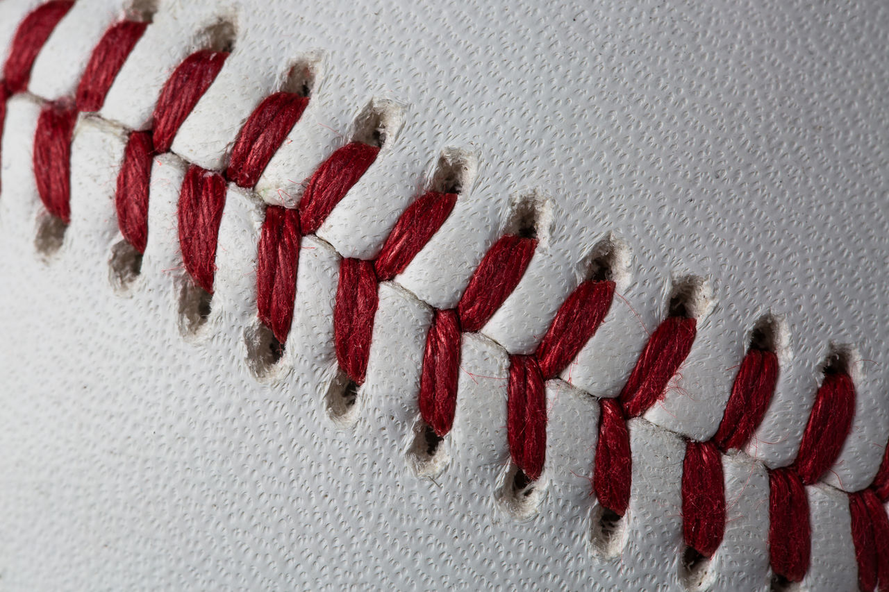 Ball Baseball Close-up In A Row No People Red Repetition Sport Stitch