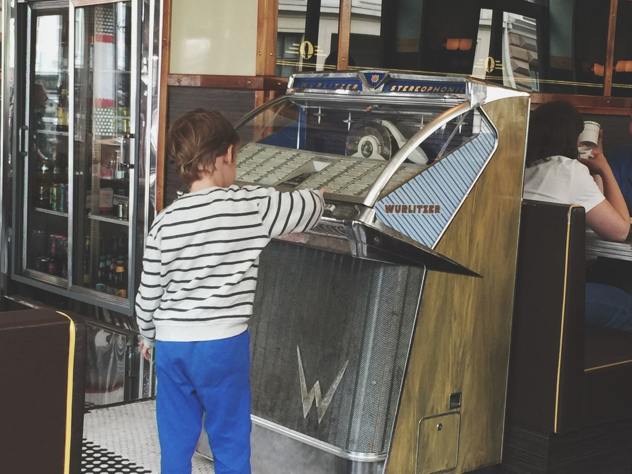 Hidden Gem Wurlitzer Magic Machine Child,Boy Old Antique Magic Music Music Lovers Diner Oslo The Nighthawk Diner  Jan Vardøen The American Dream Music Machine Jukebox