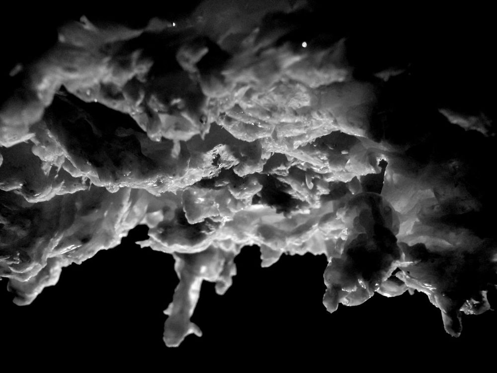 Black And White ICE. Earth