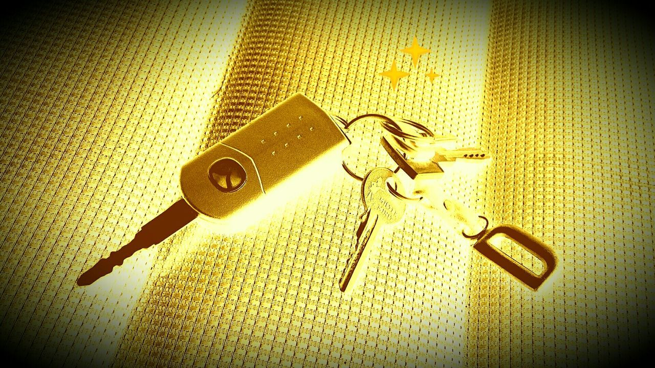 Golden Keys Photo Art Schluessel Schlüsselbund Autoschlüssel The Golden Hour