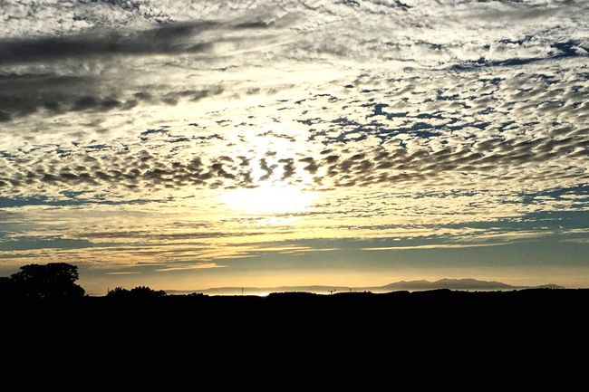 Sun setting over Arran! This is the view from the top of our Farm! Taking Photos Enjoying Life Love Home Arran  Taking Photos Sunset Sunset Silhouettes Scotland West Coast Scotland Viewfromhome Isle Of Arran  Sea And Sky Photooftheday Picoftheday Travel Destinations Stunning Scenery