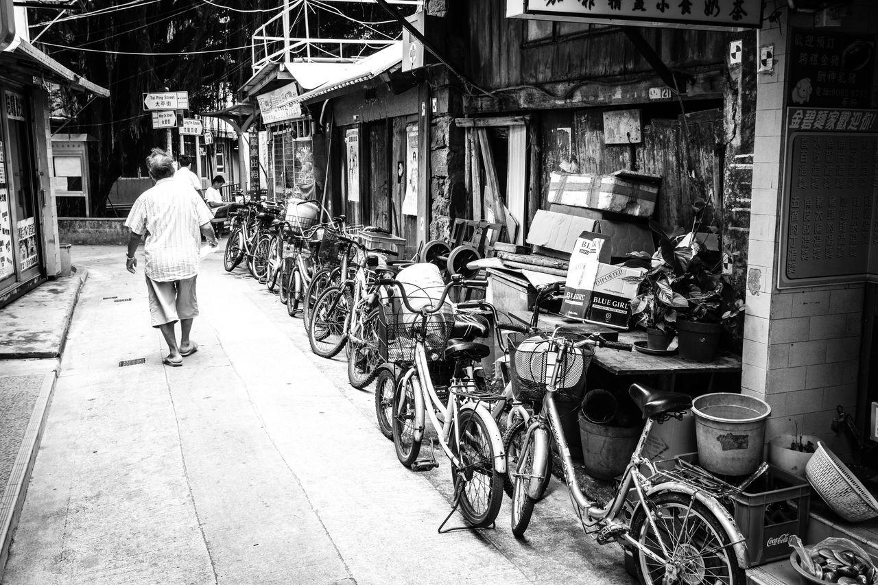 Bicycle Black & White Blackandwhite Day Outdoors Tai'O