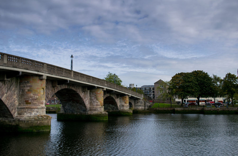 Dumbarton town bridge Bridge - Man Made Structure Architecture Connection Water Built Structure Cloud - Sky Sky Outdoors Day City No People Dumbarton River Leven Old Historic Road