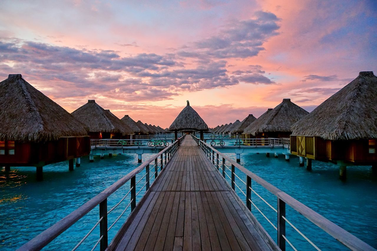 Beautiful stock photos of bora bora,  Beauty In Nature,  Blue,  Bora Bora,  Building Exterior