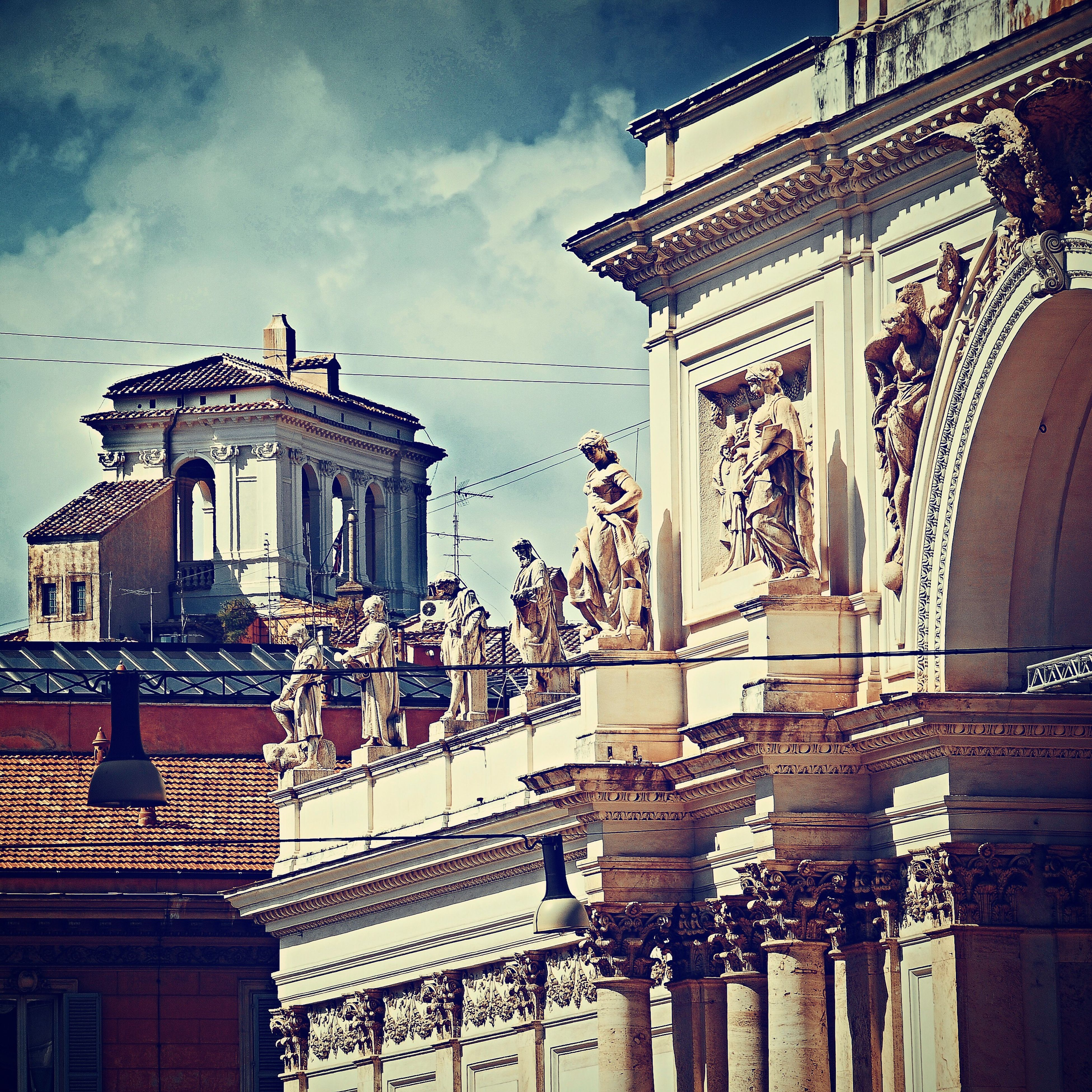 Architecture Building Exterior Built Structure Sky Travel Destinations Statue Low Angle View Sculpture No People Outdoors City Balcony Day Baroque Style