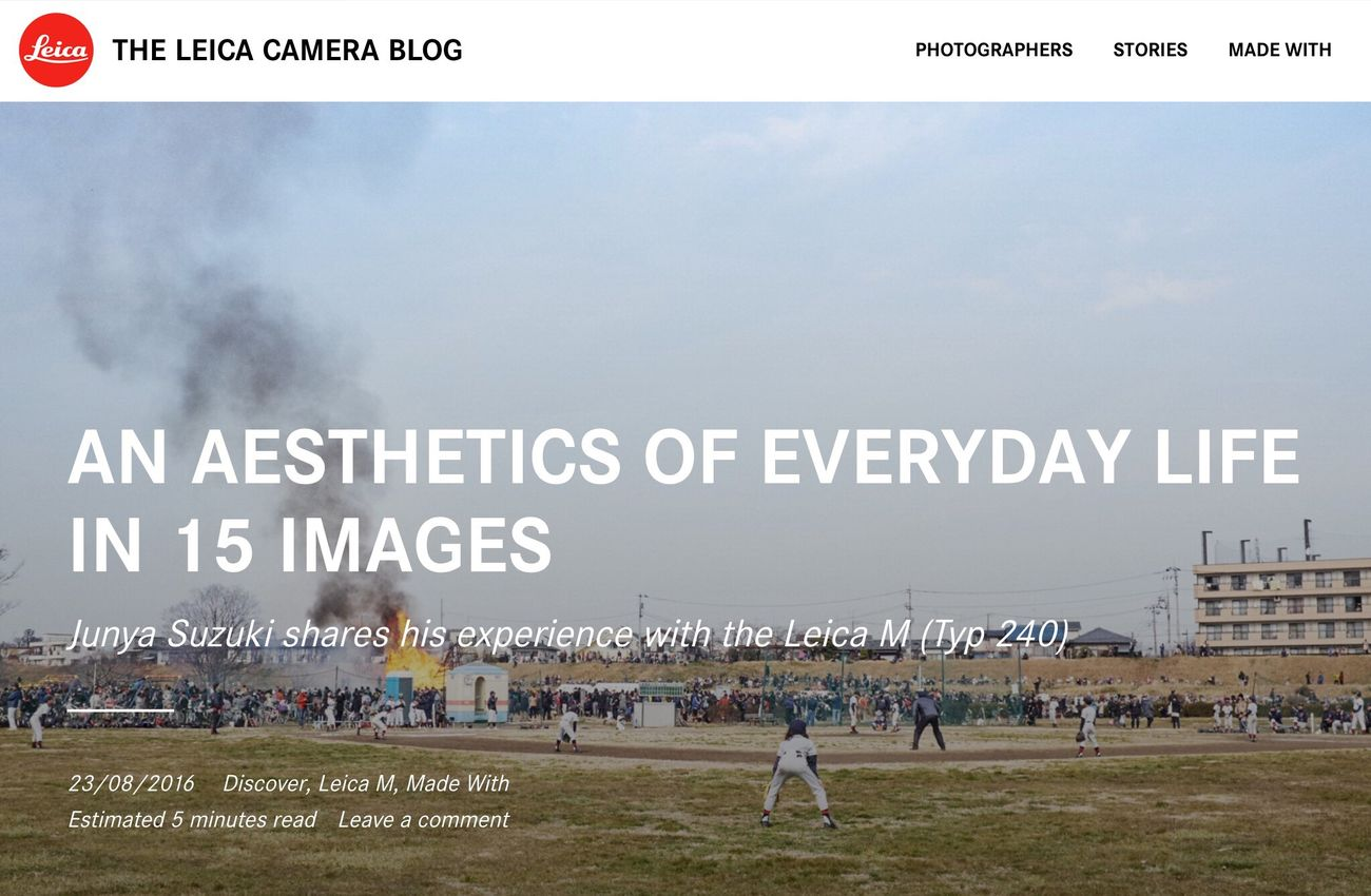 """My project """"An Aesthetics of Everyday Life'"""" has been featured on Leica Camera Blog. http://blog.leica-camera.com/2016/08/23/an-aesthetics-of-everyday-life-in-15-images/"""