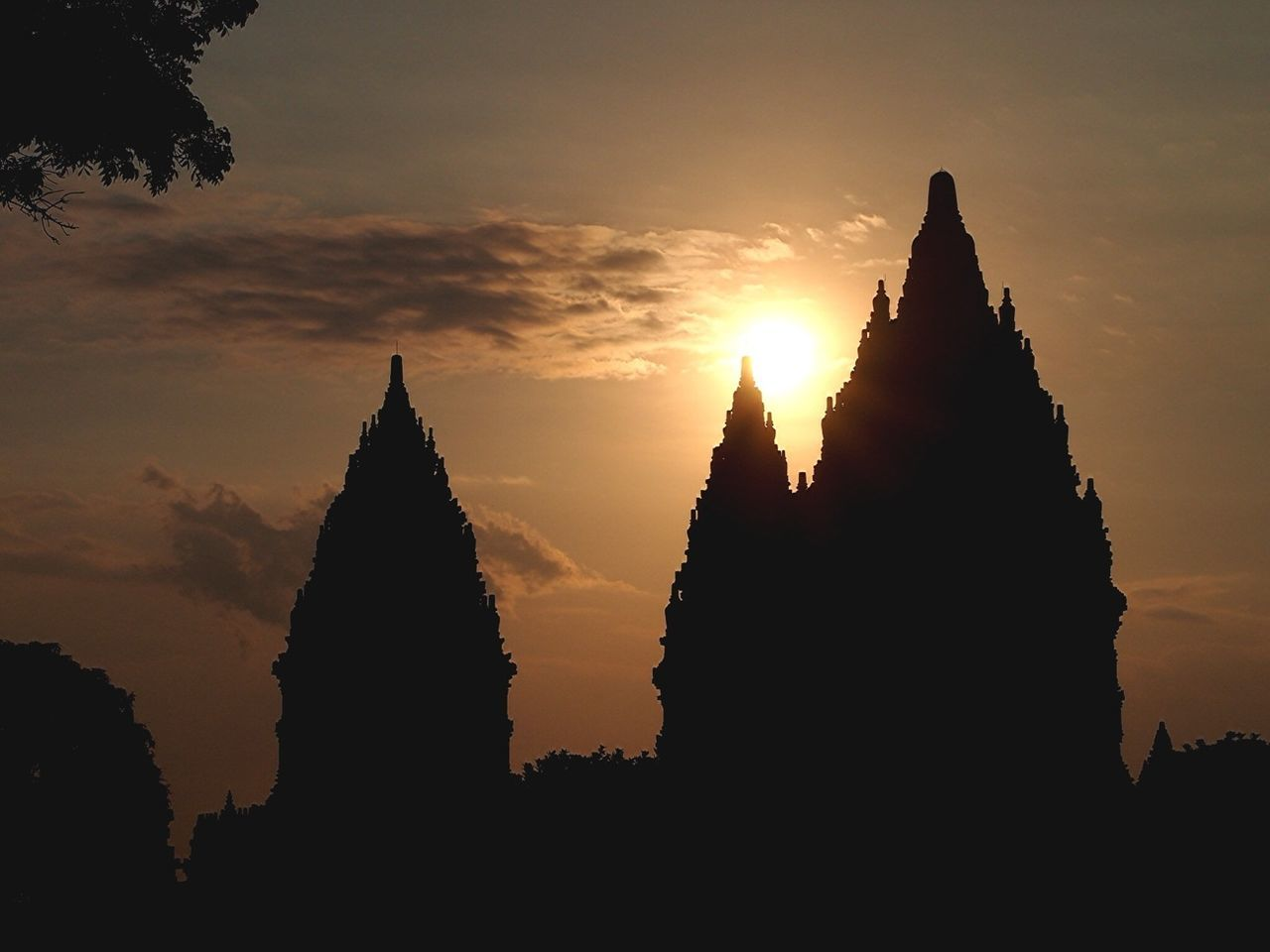 I Love Indonesia Sunset Silhouettes
