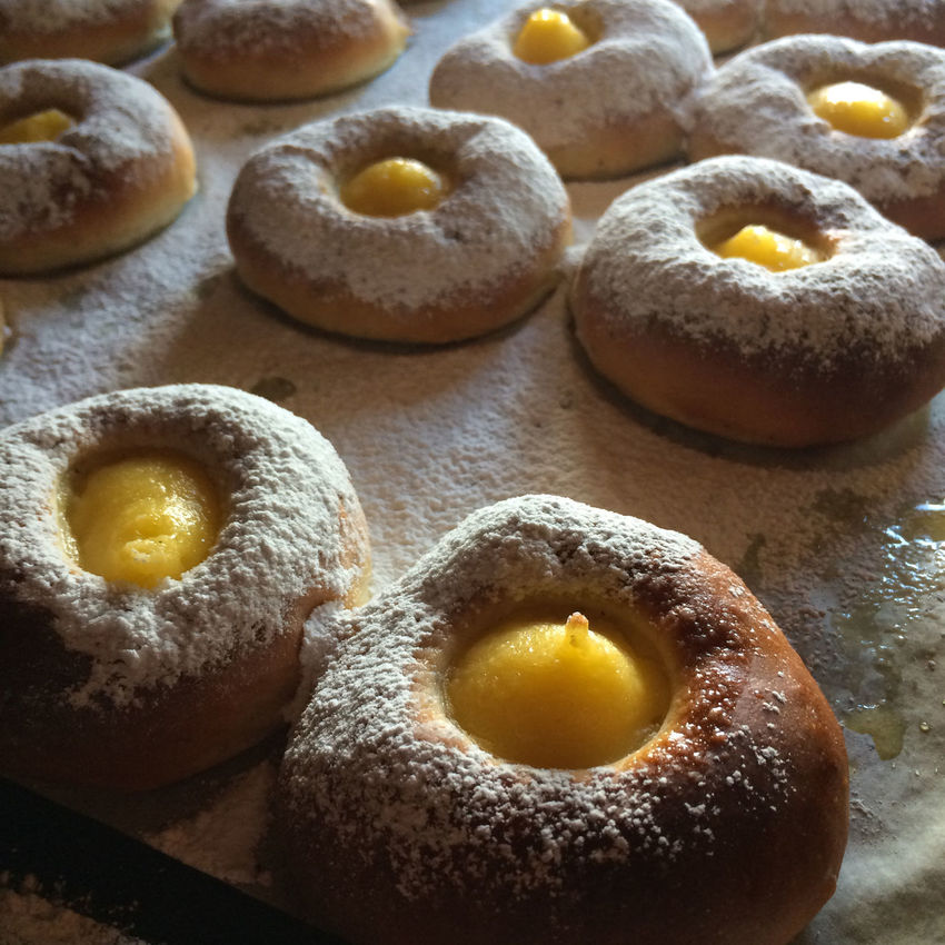 Cakes Buns Sweet Bread Lemon Curd Tarts Baking Bakery Food Sweet