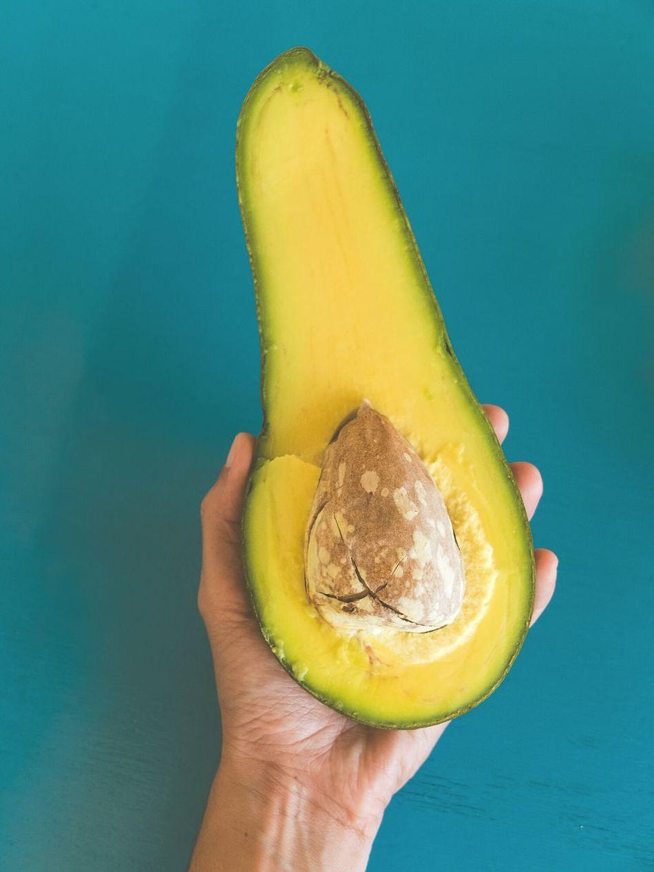 Yep, that's an avocado... Avocado Cubanfood Holding Food Fruit Healthy Food My World Of Food