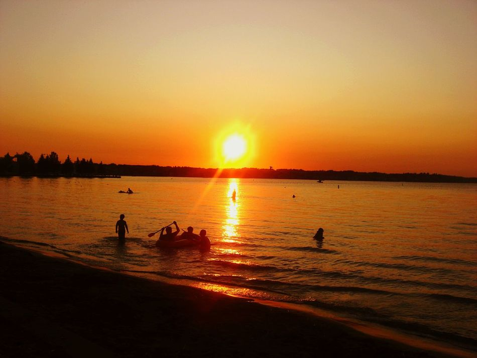 Canada, Alberta, Sylvan Lake (2009) Canada Alberta Sylvan Lake Sunset Lake Silhouette Beauty In Nature Nature Water Outdoors Scenics Sun People Beach Sky Day Sunset_collection